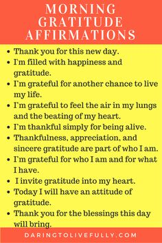 Here are 10 gratitude affirmations to start your morning off right. Affirmation Quotes, Affirmations, Positive Affirmations, Confirmation