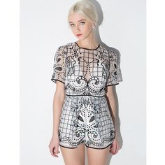 faa505c8b2b1 Enlarge Alice McCall Silk Cotton Dress With Flocked Print. See more. Space  Is The Only Noise Lace Playsuit Lace Playsuit
