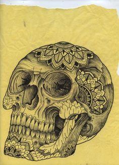 Sugar skull, art, inspiration, illustration