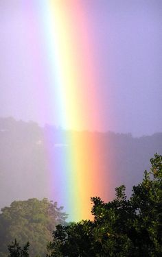 Rainbow after the rain just like we will see the light soon at the end of the tunnel... ❤❤ Hope high ❤❤