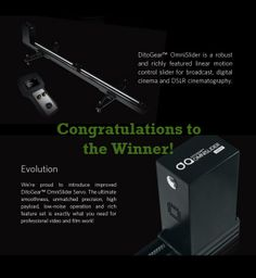 Lucky Winner of the DitoGear OmniSlider on planet5D - http://blog.planet5d.com/2014/03/lucky-winner-of-the-ditogear-omnislider-on-planet5d/