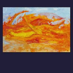 Přeplněná pláž akryl na plátně rozměr: 110x70 cm