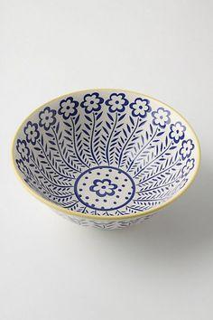 Atom Art Serving Bowl, Blue