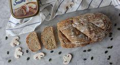 Jogurtowy chleb z pieczarkami Bread, Food, Brot, Essen, Baking, Meals, Breads, Buns, Yemek