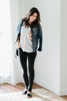 Well isn't this fun, seeing each other on the weekends. :) I've got not one, but two outfits for you today. How plain is this outfit? Black jeans, white button down. But you know what? …