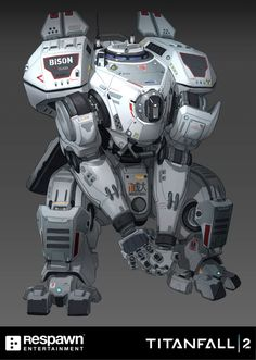 Titanfall 2 isn't just a very good video game, it's also a very pretty one, with some of the best character, mech and environment design around. So let's take a look at where all that stuff came Robot Concept Art, Armor Concept, Robot Militar, Character Concept, Character Design, 3d Character, Arte Peculiar, Mecha Suit, Arte Robot