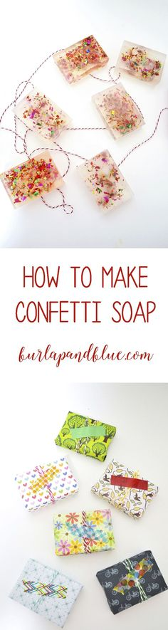 how to make (and package) soap! Easy confetti soap making tutorial.