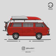 KombiT1: VW T3 Westfalia Marebis Flat Design