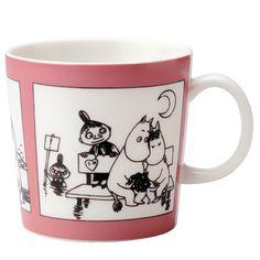 Mummikopp Rose Moomin Mug Rose / Muki Roosa 1990 – 1993 Moomin Mugs, Tove Jansson, Marimekko, Illustration Art, Illustrations, Tableware, Mumi, Finland, Den