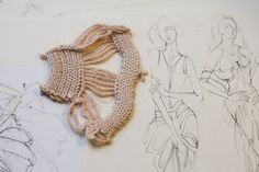 Fashion Sketchbook - knitwear design development; fashion sketches; fashion portfolio // Gyu