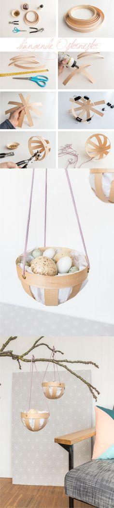 Cestas colgantes de Pascua / Via http://leelahloves.de/