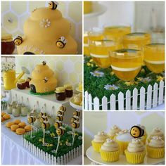 "1st ""Bee""-Day Party with Such Cute Ideas via Kara's Party Ideas 