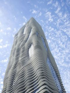 Postmodern Architecture at it's best. The Aqua tower by Gang Architects. We love it.