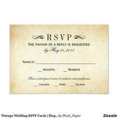 Vintage Wedding RSVP Cards   Elegant Flourish