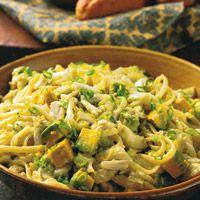 Linguine, Crab, and Avocado with Scallion Vinaigrette Recipe - Delish.com