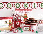 Holiday Cookie Exchange Party DIY printable custom invitation - gingerbread woman theme. $12.00, via Etsy.