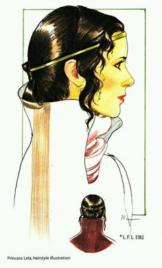 Princess Leia Organa - Star Wars - Return of the Jedi - concept art Star Wars Concept Art, Star Wars Art, Saga, Star Wars Personajes, Han And Leia, Star Wars Princess Leia, Star Wars Episode Iv, Star Wars Outfits, Star War 3