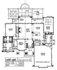 Check out the original sketches for house plan 1344, The Ella.