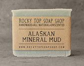 Alaskan Mineral Mud Soap -  All Natural Soap, Handmade Soap, Unscented Soap, Cold Process Soap, Vegan Soap