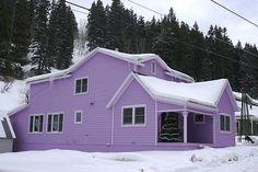 Lavender House Purple Door Rain Deep My Favorite Color