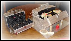 Edible meets functional - Train Cases by Slice of Sweet Art - Custom Cakes, via Flickr