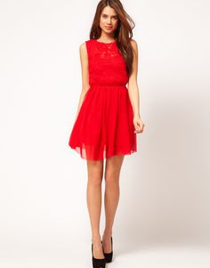 Dress With Rose Mesh