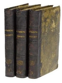 Wuthering Heights: A first-edition of the Emily Brontë novel Wuthering Heights printed in 1847 sold at a Bonhams auction in London in 2007 for £ 114,000.