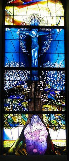 Stained Glass Window - Protestantische Kirche in Pleisweiler- artist Ada Isensee von Stockhausen www.glasbild.com #adaisensee