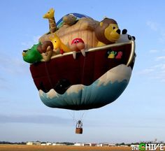 Amazing hot air balloon. [NOTE: Not everything at the click-through is suitable for work or kids.]