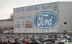 Ford Assembly Plant in Hapeville, GA (south of Atlanta), circa 2001. The Atlanta Assembly Plant was opened on December 1, 1947; it was closed on October 27, 2006.