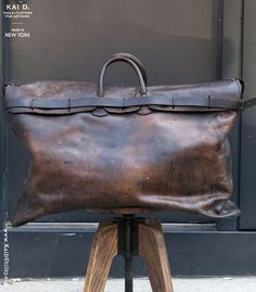 1920s Leather Travel Bag