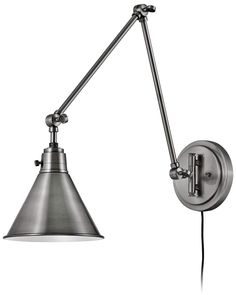 Hinkley Arti Polished Antique Nickel Joint Arm Wall Lamp #walllamp #walllights #walllighting #bathroomlighting #readinglamps Wall Lamps, Desk Lamp, Wall Lights, Table Lamp, Cord Cover, Modern Wall Sconces, Hinkley Lighting, Spice Things Up, Bathroom Lighting