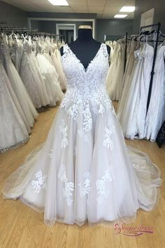Custom Lace and Tulle Plus Size Wedding Dress.The professional tailors from wedding dress manufacturer custom this plus size bridal dress with any sizes and many other colors.Contact us to custom plus size wedding dress online. Best Formal Dresses, Plus Size Wedding Gowns, Elegant Wedding Gowns, Modest Wedding Dresses, Bridal Dresses, Elegant Dresses, Sexy Dresses, Lace Wedding, Summer Dresses