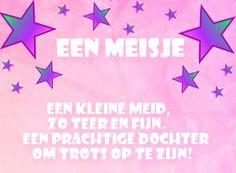leuke geboorte meisje felicitatie plaatjes met tekst: een dochter om trots op te zijn. LeukePlaatjesz.nl