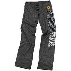 MLB - Pittsburgh Pirates Black Women's Drawcord Tri-Blend Pants