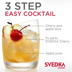 CHERRY CRUSH | DRINK! | Pinterest | Vodka Cocktail, Cocktail Drinks ...