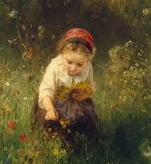 I adore that painting. Ludwig Knaus A detail of Girl in a Field, oil on canvas, 50 x 61 cm, Hermitage Museum, St. Illustrations, Illustration Art, Image New, Flora Und Fauna, Hermitage Museum, Ludwig, Fine Art, Beautiful Paintings, Classic Paintings
