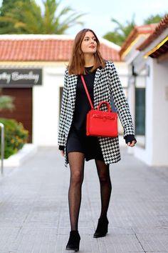 Get this look: http://lb.nu/look/8544791  More looks by Marianela Yanes: http://lb.nu/marilynscloset  Items in this look:  Sheinside Coat, Mango Bag, Zara Dress   #classic #elegant #minimal