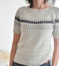 a knit and crochet community Summer Knitting, Fair Isle Knitting, Ropa Free People, Punto Fair Isle, How To Purl Knit, Cool Sweaters, Pulls, Knitwear, Knit Crochet