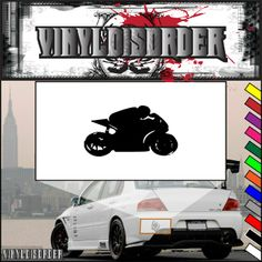 Motorcycle Wall Decal - Vinyl Decal - Car Decal - CD111