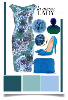 """""""green"""" by clarerizzo on Polyvore featuring Karen Millen, Christian Louboutin, Lanvin, Latelita and Navy"""