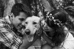 E-session com o dog: Carol + Vitor - Berries and Love