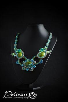 Jewellery Necklace Soutache jewelry soutache by PolinessJewelry