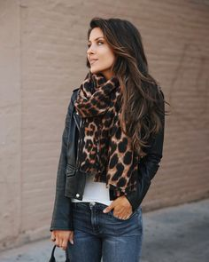 """cdd2e40a023 Andee Layne on Instagram: """"The leopard print scarf I'll be living in this  Fall🖤🖤🖤 (under $100 and just restocked- linked directly in my insta  bio😘) ..."""