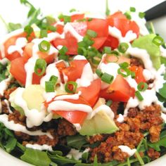 This raw taco salad is so delicious. I can't believe how much salad greens I'm eating. And I always feel like I've eaten the heartiest winter meal.