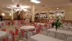 Coral and White | Ballroom