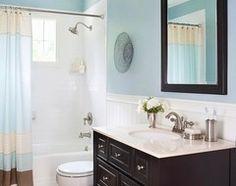 trendy bathroom remodel with tub bath tiles marbles Bathroom Tub Shower, Brown Bathroom Decor, Small Bathroom Colors, Traditional Bathroom, Tub Shower Combo, Trendy Bathroom, Bathrooms Remodel, Beadboard Bathroom, Mold In Bathroom