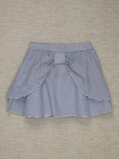 Halabaloo Gitter kastanienbraun Bow Skirt by Halabaloo at Gilt Frock Design, Baby Dress Design, Baby Outfits, Kids Outfits, Little Girl Skirts, Skirts For Kids, Baby Frocks Designs, Kids Frocks Design, Girls Dresses Sewing