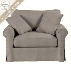 Suzanne Kasler Signature 13oz Linen Baldwin Club Chair Slipcover