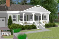 basic ranch home with front porch ideas @Sidney Bittner